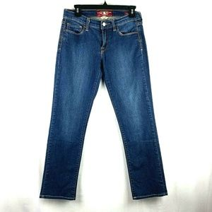 Lucky Brand Sofia Straight Blue Jeans Womens 4/27